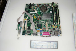 HP DC5700 socket 775 motherboard with cpu, ram and I/O shield - $34.65