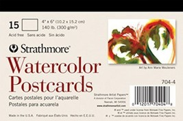 Strathmore Blank Watercolor Postcards pad of 15 Package May Vary - $7.67