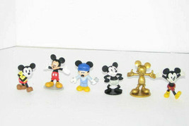 Lot of 6 Mickey Mouse Figures Plastic - $12.85