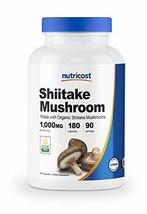 Nutricost Organic Shiitake Mushroom Capsules 1000mg, 90 Servings - Certified CCO
