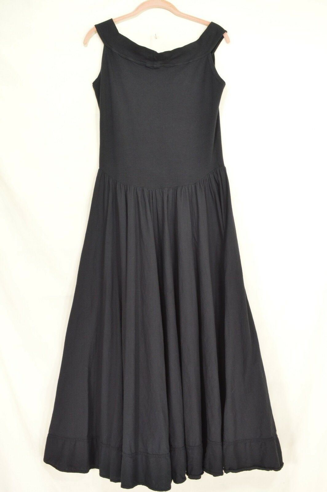 Luna Luz dress L black sleeveless balloon tie up parachute bottom full