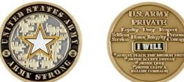 Challenge Coin U.S. Army Private E-1 Coin - $18.03