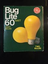 GE Lighting House Garden Bug Lite 2-pack Outdoor Light Bulbs 60w Patio Deck NOS - $9.46