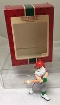 1987 Hallmark Christmas Ornament Santa at Bat Great Shape w Box  H20 - $14.36