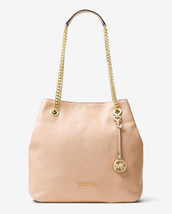 Michael Kors Jet Set Chain Large Leather Shoulder Bag Tote Oyster New NW... - $192.06
