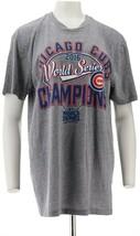 World Series 2016 Champions Chicago Cubs Mens High Tee Cubs XXL NEW A291702 - $23.74