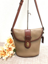 Rare Vintage COACH SHERIDAN STEWART Bag Taupe/Brown Pebbled Leather, Sty... - $94.04
