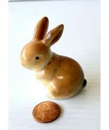 Miniature Mid Century Porcelain Bunny Figurine - $11.95