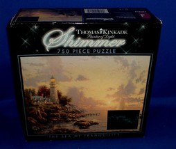 Ceaco Thomas Kinkade Sea of Tranquility a Shimmer Puzzle 750pc - $8.91