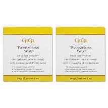 GiGi Tweezeless Wax - Non-Strip Facial Hair Remover, 1 oz x 2 pack