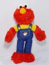 "12"" Sesame Street Farmer Elmo Chicken Overalls 2008 Plush Toy Stuffed  - $10.00"