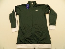 M86 NWT REEBOK New York Jets Green Hoodie Hooded FZ Dress E Jacket WOMEN'S - $39.95