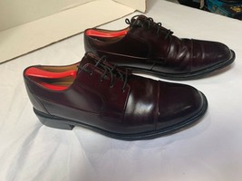 Bostonian Black Leather Cap Toe Dress Shoes 9 1/2 M Great Condition - $11.69