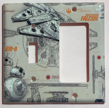 Star Wars Millennium Falcon BB8 BB-8 Switch Outlet wall Cover Plate Home Decor image 9