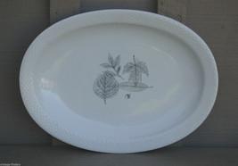 """Vtg Rosenthal Continental 14"""" Oval Serving Platter Shadow Leaf Pattern Germany - $36.62"""