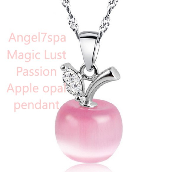 Magic Lust passion, love spell , good luck  Apple Pink Opal necklace spellbound