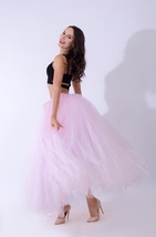 Adult Tutu Maxi Skirt Drawstring High Waist Party Tutu Tulle Skirt Petticoats  image 6