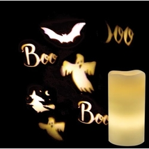 Remote Control Ghost Star Snowflake Projection Pillar Battery Candle  - $39.99