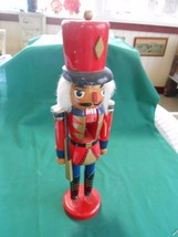 """Great Collectible Wood TOY SOLDIER Nutcracker 12.5"""" height - $12.46"""