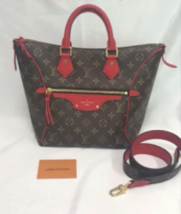 Auth LOUIS VUITTON Monogram Tournelle PM 2 way Bag Red Tote Bag From Jap... - $1,960.20