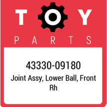 43330-09180 Toyota Joint Assy Lwr Ball, New Genuine OEM Part - $65.80