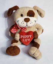 "Brown Dog 14"" Plush Heart Pillow Puppy Luv Animal Adventure 2004 Valenti... - $10.45"