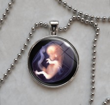Human Fetus in the Womb midwife Pendant Necklace - $14.85+