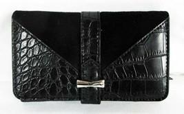 Nine West $35 Treasures Deluxe Black Wallet Faux Leather Snap Closure - $13.85