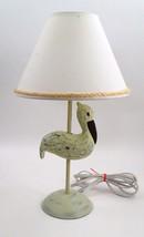 Seaside Beach House Nautical Pelican Crane Stork Table Lamp w/ Rope Edge... - €49,44 EUR