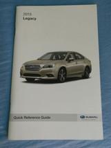 2015 Subaru Legacy Navigation Quick Reference Guide Owner Manual SUPPLEM... - $9.38