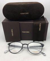 New TOM FORD Classic Eyeglasses TF 5482 001 50-21 Black & Silver Titanium Frames image 11