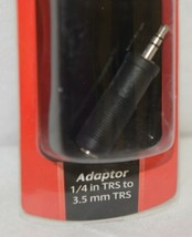 Hosa Technology GMP112 Adaptor Quarter Inch TRS To Three And Half Same image 2