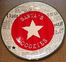"Dept. 56 ""Santa's Cookies"" Large 10"" Plate - $19.95"