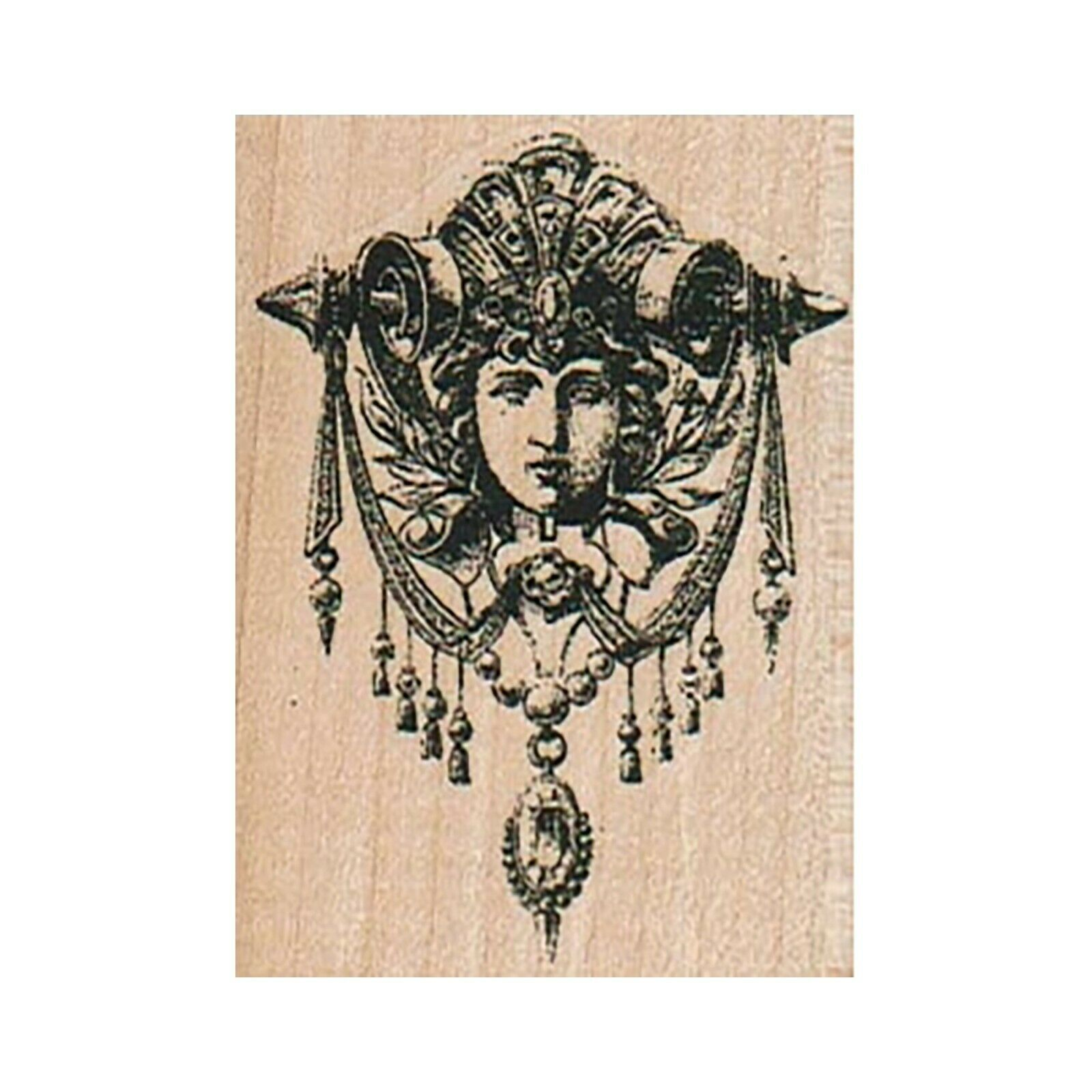 Primary image for Mounted Rubber Stamp, Goddess, Face Hanging, Statue, Wall Hanging, Angel, Cherub