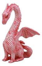 "Ebros Valentine Cupid Love Pink Dragon Figurine 4.25"" Tall Romantic Female Drago - $17.81"