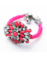 Fashion Women Jewelry Excellent Wholesale Acrylic Statement Neon Rope B... - $22.47