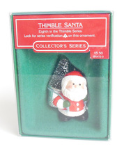 Hallmark Christmas Ornament Thimble Santa 8th in Series QX4725 Vintage 1985 - $19.95