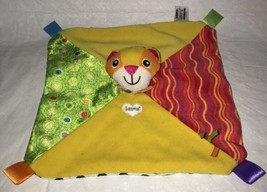 Lamaze Tomy Cat Blankie Ribbon Tags Patches Lovey Security Baby Blanket ... - $14.84