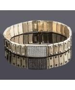 3.20 Ct Men's ID Screw Link Diamond Bracelet 14k Solid Yellow Gold 46 g 8'' - $5,729.39