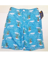 Cherokee Boys Swim Trunks Blue with Surfing Igu... - $7.69