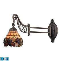 ELK 079-TB-07-LED, Mix-N-Match Swing Arm Glass Wall Sconce Lighting, 1LT... - $4.714,69 MXN