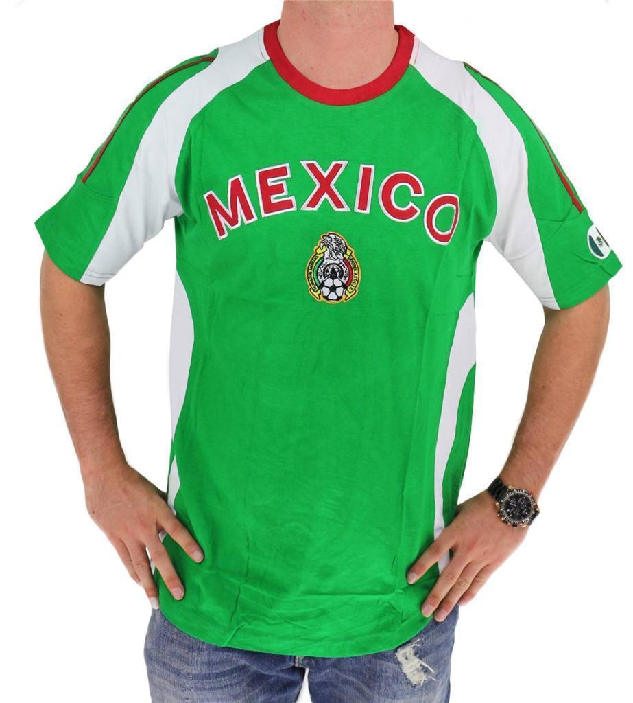 MEN'S SOCCER FOOTBALL WORLD CUP 2018 JERSEY SLIM FIT SHIRT T-SHIRT MEXICO SIZE S