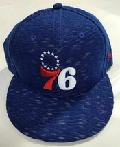 New Era Philadelphia '76ers 9Fifty Snapback Baseball Cap Blue w/White Hi... - $29.39