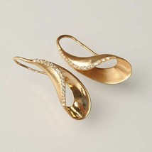 Earrings in 925 Sterling Silver Laminated Gold or Rhodium with Zircons by Mary image 2