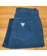 Guess Georges Marciano Jeans Blue Cotton High Waist USA Vtg Tag Sz 34 Fi... - $40.10