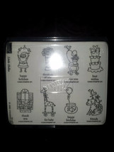 Rubber Stamps Lot Of 8 Rubber Ink Stamps Birthday Cake, Cat - $7.92