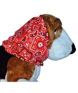 Red White Black Paisley Bandana Print Cotton Dog Snood by Howlin Hounds ... - $12.50