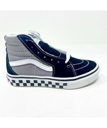 Vans Sk8 Hi Comfycush (Tape Mix) Black Frost Grey Kids Sneakers - $47.95