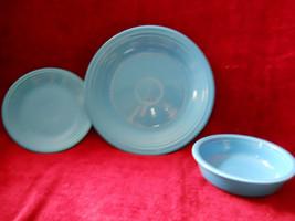 HOMER LAUGHLIN  FIESTA 3 piece set blue - $14.80