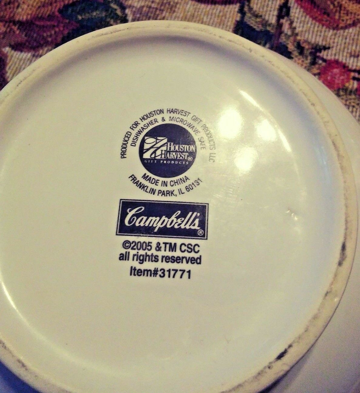 VINTAGE 2005 CAMPBELLS SOUP COLLECTIBLE BOWL / CUP ITEM # 31771 image 10